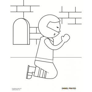 Coloring Sheet - Daniel Prayed